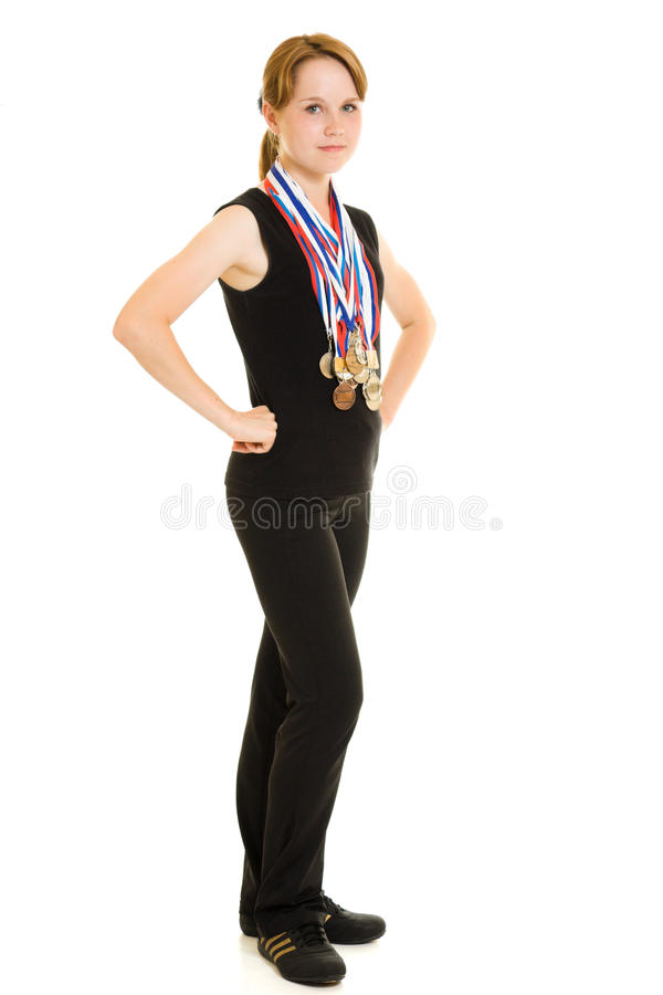Download Girl champion stock photo. Image of young, healthy, woman - 20765254
