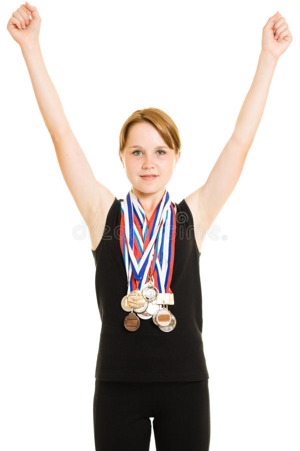 Girl Champion Royalty Free Stock Photos