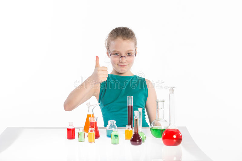 Download Girl In Chemistry Class, Chemistry Lesson Royalty Free Stock Image - Image: 38718166