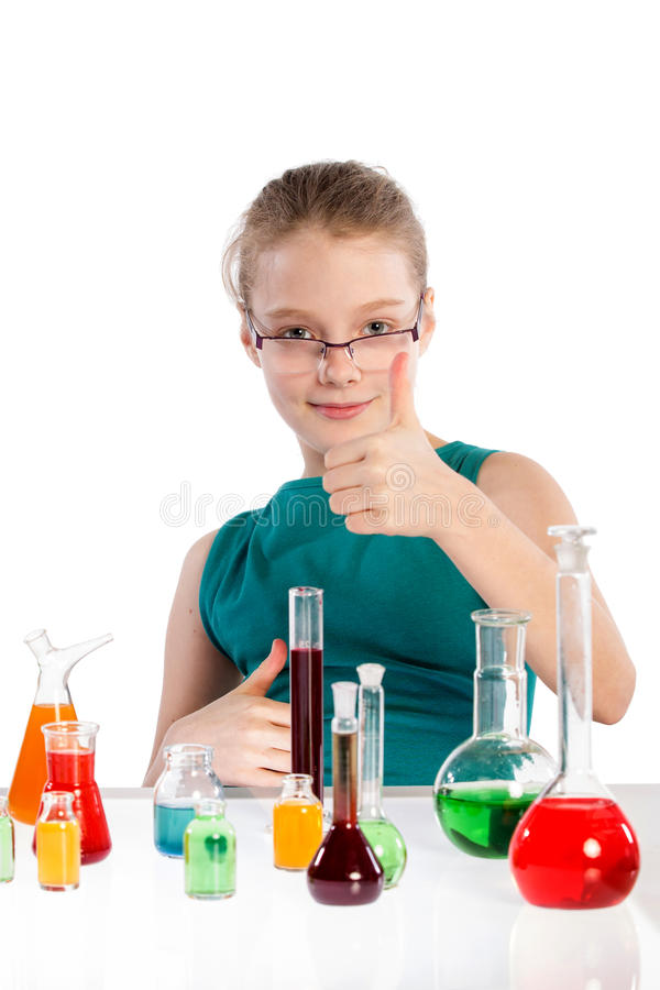 Download Girl In Chemistry Class, Chemistry Lesson Royalty Free Stock Images - Image: 38718189