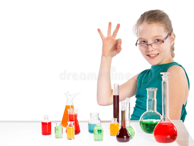 Download Girl In Chemistry Class, Chemistry Lesson Royalty Free Stock Photography - Image: 38718257