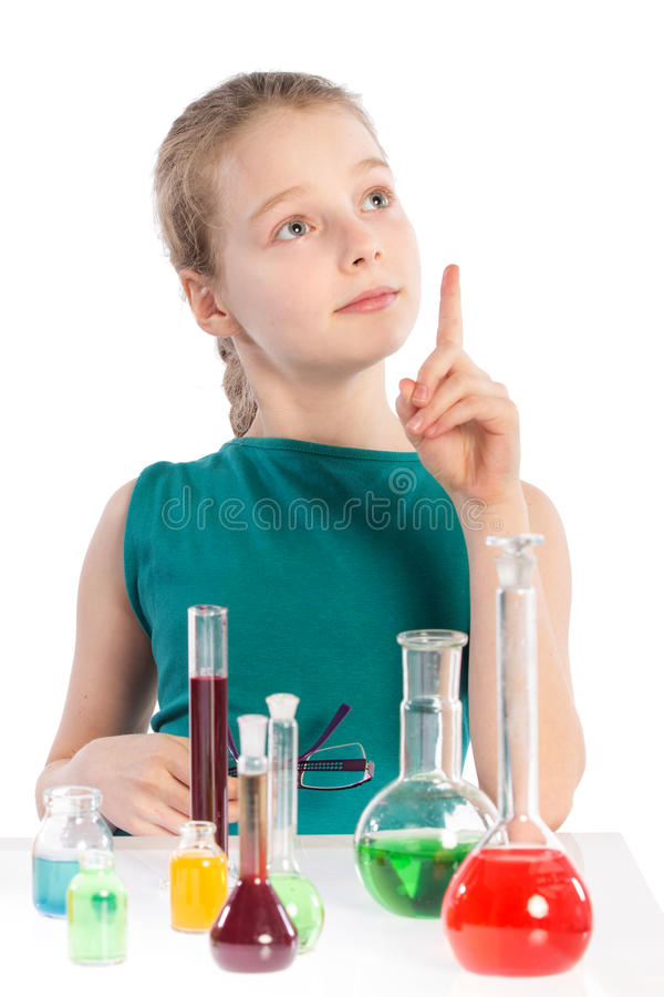 Download Girl In Chemistry Class, Chemistry Lesson Royalty Free Stock Image - Image: 38718306