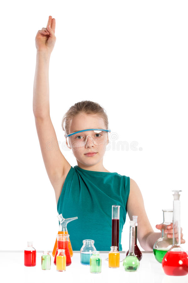 Download Girl In Chemistry Class, Chemistry Lesson Stock Photo - Image: 38718344