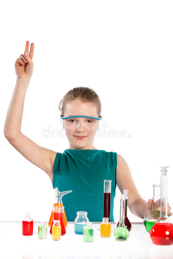 Download Girl In Chemistry Class, Chemistry Lesson Stock Photo - Image: 38718402