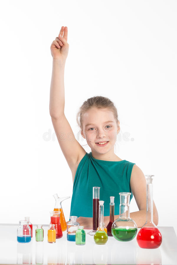 Download Girl In Chemistry Class, Chemistry Lesson Stock Image - Image: 38718523