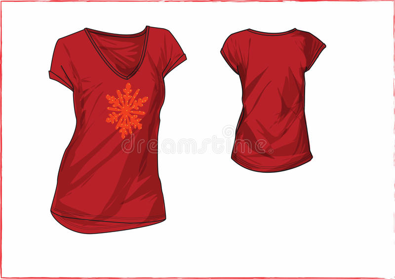 Girl chest motif t-shirt design templates royalty free stock photography