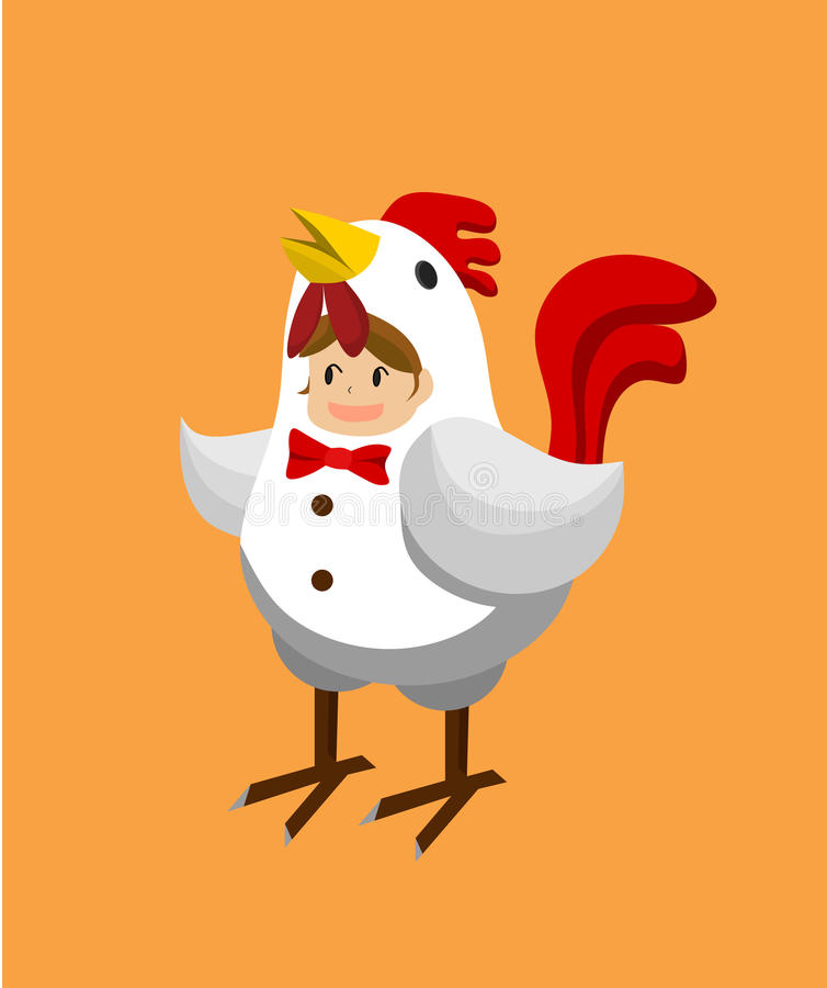 Download A girl in chicken costume. stock vector. Illustration of white - 88642853  sc 1 st  Dreamstime.com & A girl in chicken costume. stock vector. Illustration of white ...