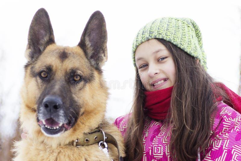 Girl child and dog royalty free stock image