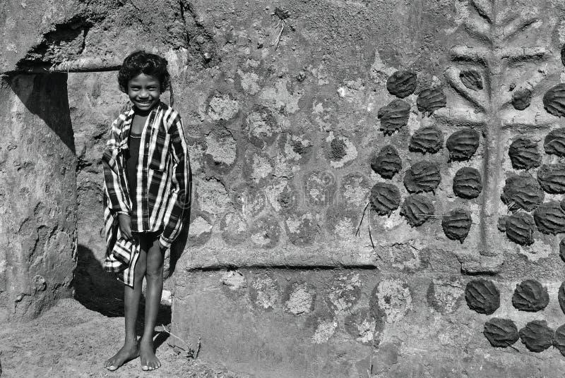 Girl child in India stock photos