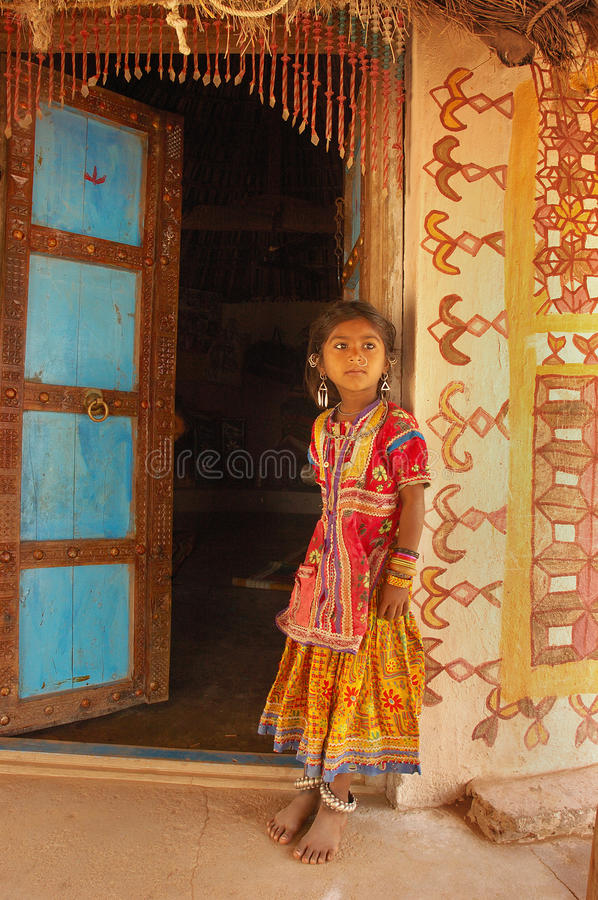 Girl child in India royalty free stock image