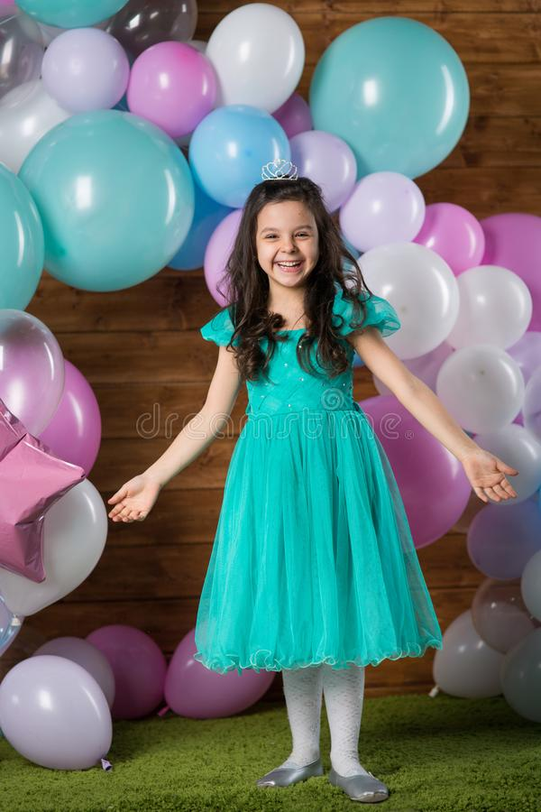 Free Girl Child With Balloons Stock Photography - 138435662