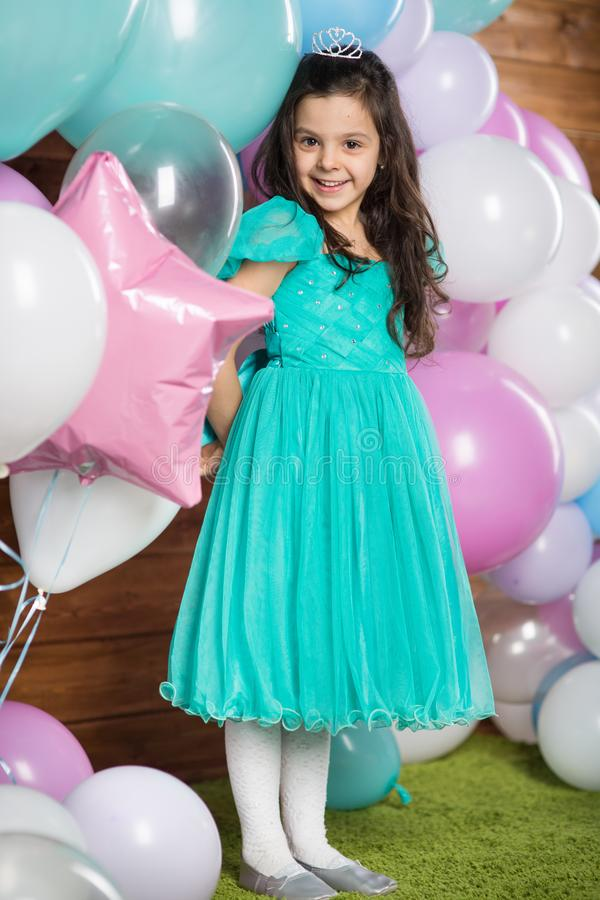 Free Girl Child With Balloons Stock Photography - 138437142