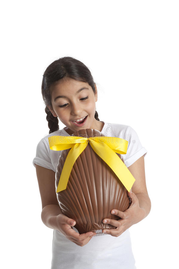 Download Girl With Chocolate Easter Egg Stock Image - Image: 19754669