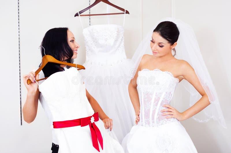 Download Girl Choosing A Wedding Dress Stock Photo - Image: 12672392