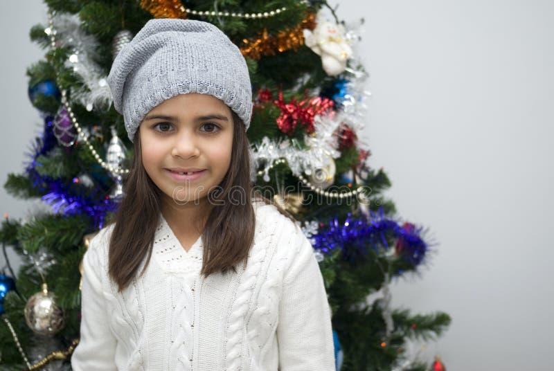 Girl at Christmas stock photography