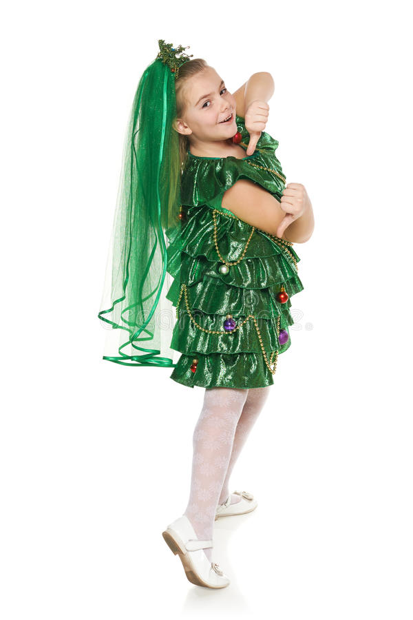 download girl in christmas tree costume stock photo image 45874740 - Christmas Tree Costume
