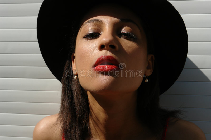 Download The girl  with the cigar stock photo. Image of lipstic - 1484398