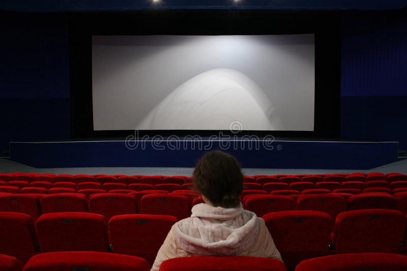 Download Girl in cinema stock photo. Image of blank, entertainment - 1721372