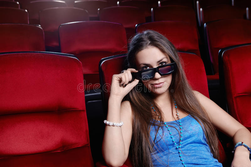 The Girl At The Cinema Stock Image