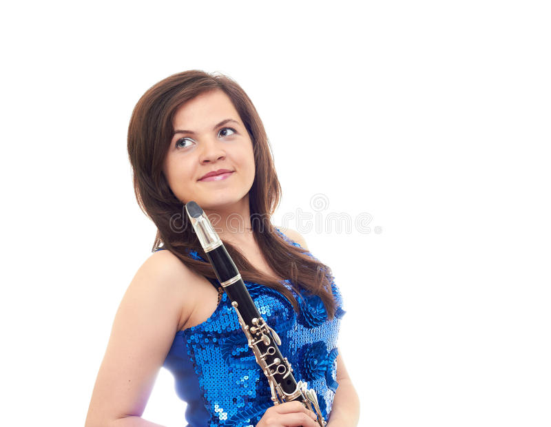 Download Girl with clarinet stock photo. Image of clarinet, background - 27404446