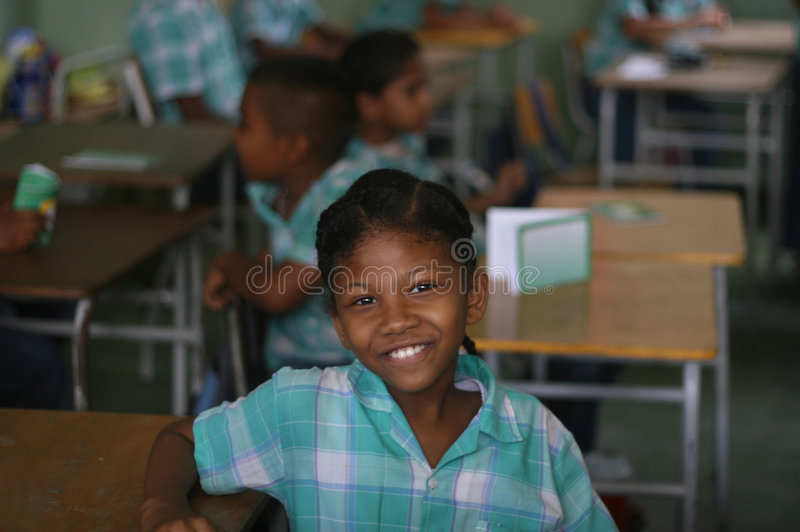 Girl in classroom, paramaribo, royalty free stock photography