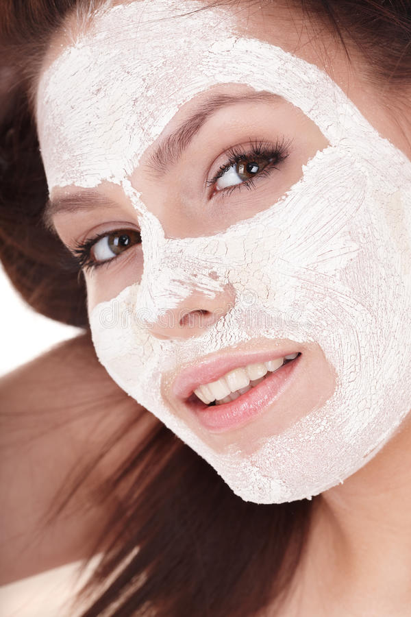 Download Girl With Clay Facial Mask. Stock Image - Image: 16667561