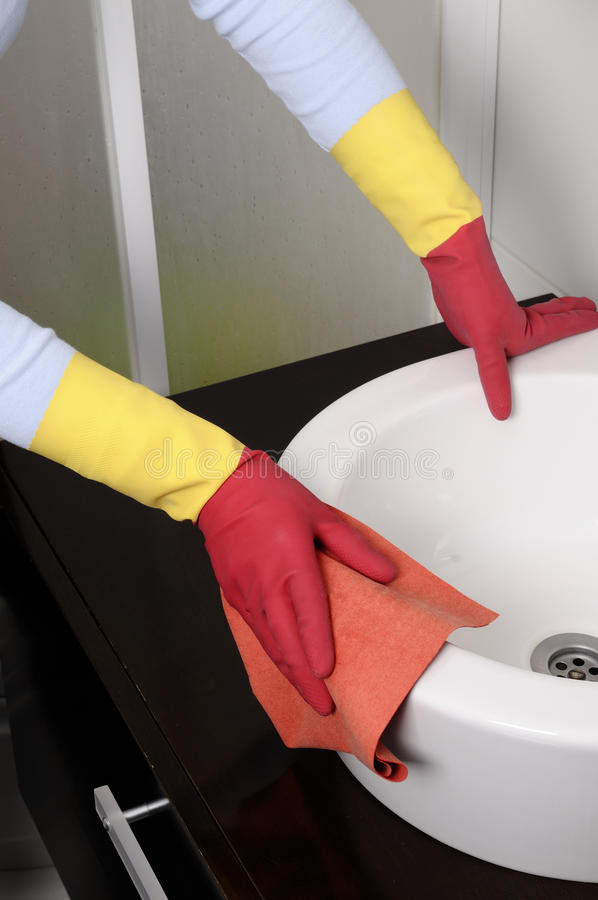 Download Girl Cleaning The House Stock Image - Image: 18428421
