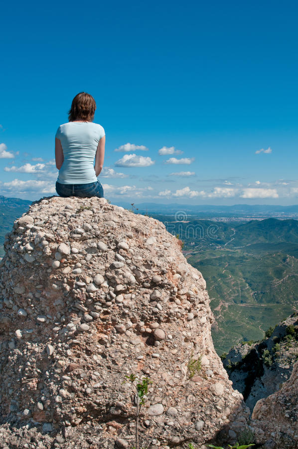 Download Girl On A Cliff Royalty Free Stock Photo - Image: 22799975
