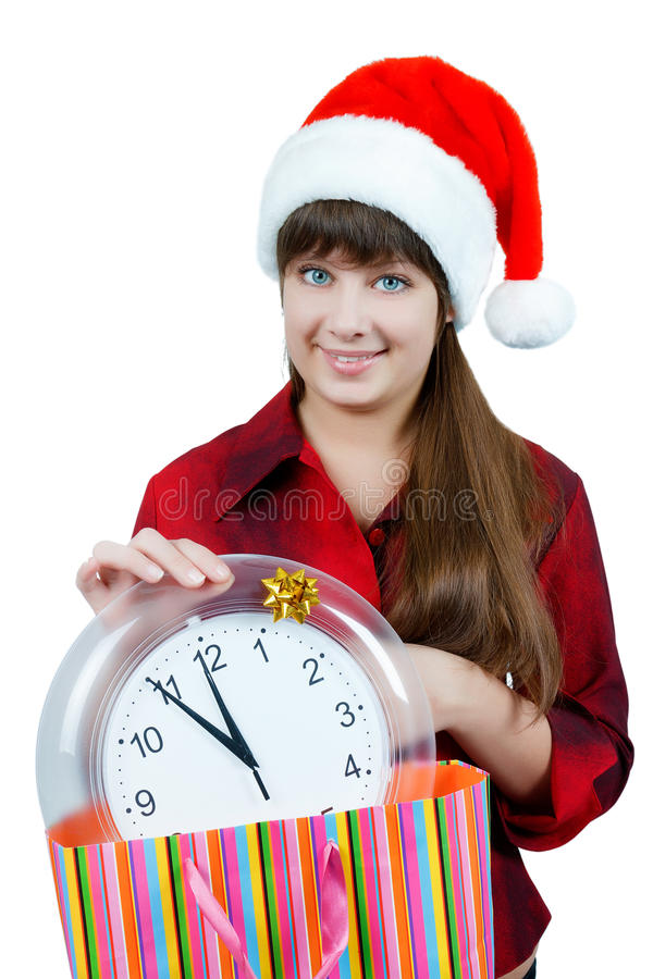 Download The Girl With The Clock Stock Photo - Image: 26061610