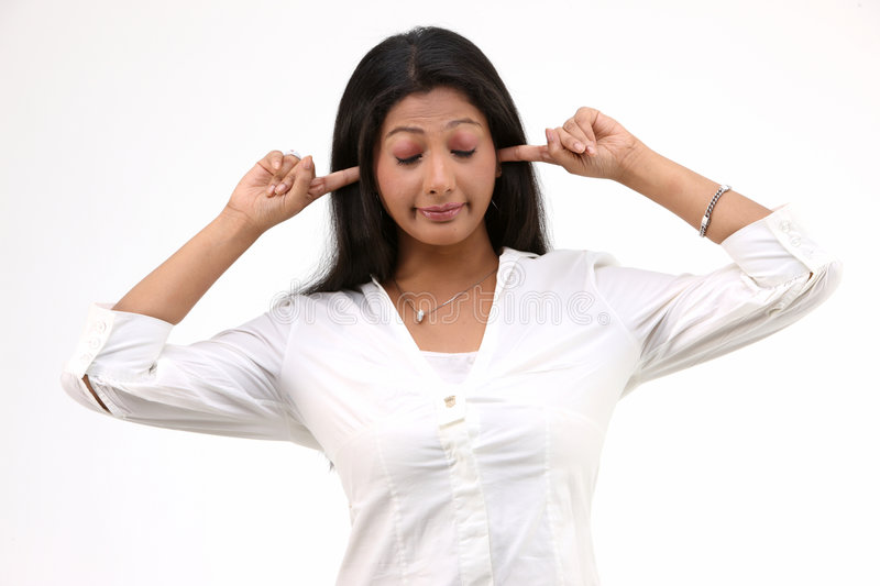 Download Girl With Closed Ears Stock Image - Image: 8554441