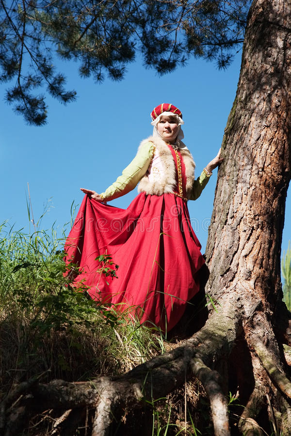 Download Girl In Clothing  Of XIII Century Royalty Free Stock Photos - Image: 18845588