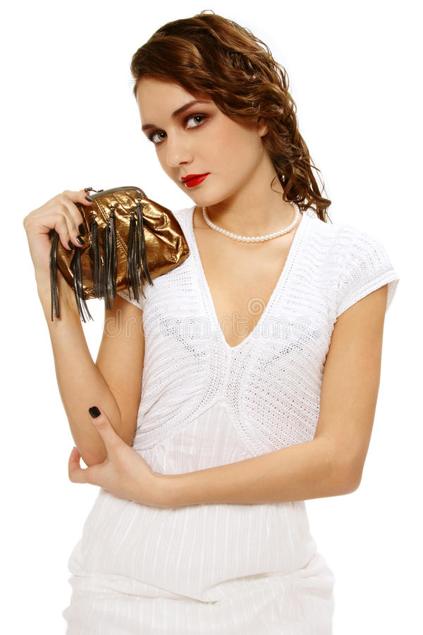 Download Girl With Clutch Royalty Free Stock Photography - Image: 11230567