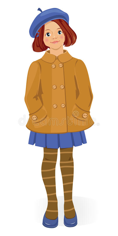 Download Girl in coat stock vector. Illustration of fashion, style - 14425538