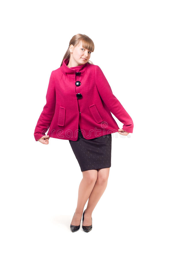 Download The girl in a coat stock photo. Image of beautiful, female - 17487220