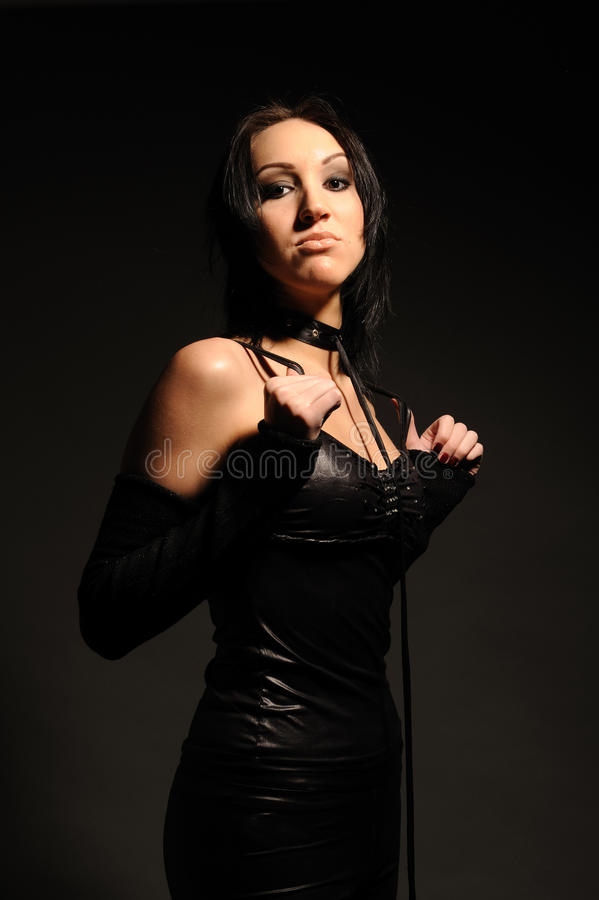 Download Girl In A Collar With Leash On Her Neck Stock Photo - Image: 15291556