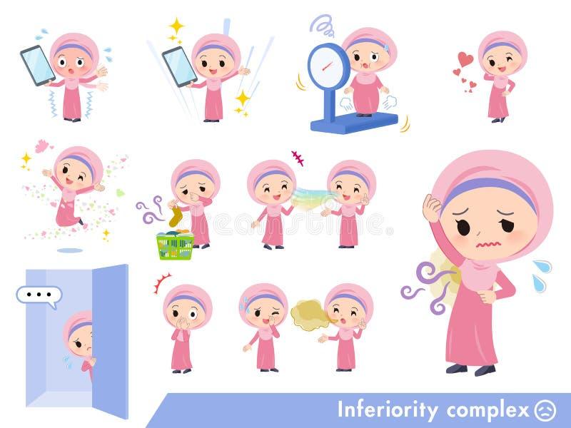 Girl_complex de Hijab del árabe stock de ilustración
