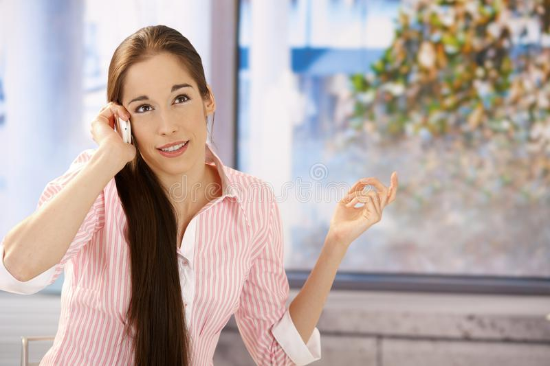 Download Girl Concentrating On Phone Call Stock Photo - Image: 16313598