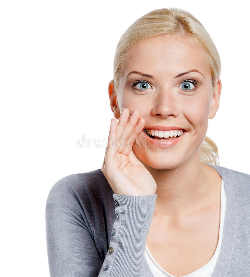 Download Girl Covering Mouth Tells Secrets Stock Image - Image: 30318221