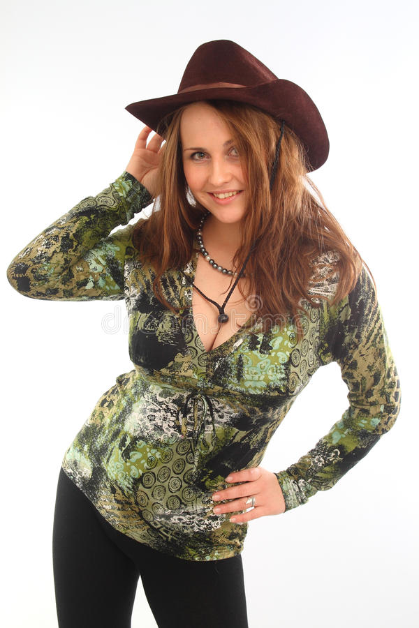 Download Girl In Cowboy Hat Stock Photos - Image: 29010703