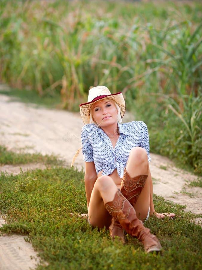 Girl Cowpuncher Stock Photos