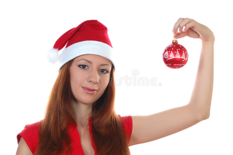 Download Girl and cristmas toy stock photo. Image of celebration - 7127996
