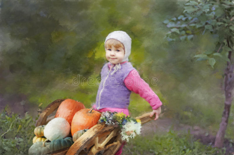 The Girl With a Crop stock images