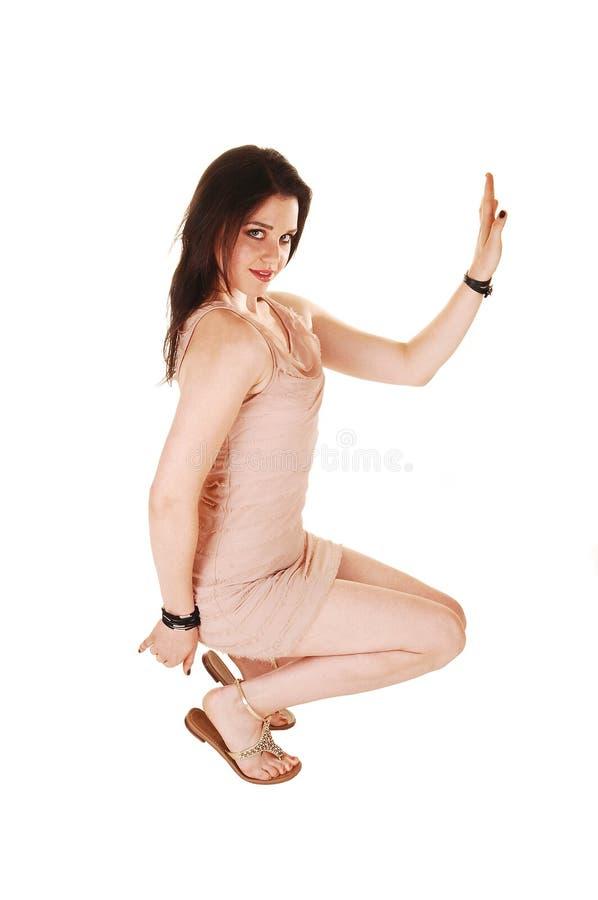 Download Girl croushing on floor. stock photo. Image of isolated - 25487240