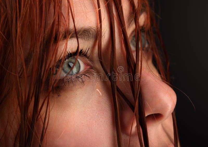 Girl Cry Stock Images