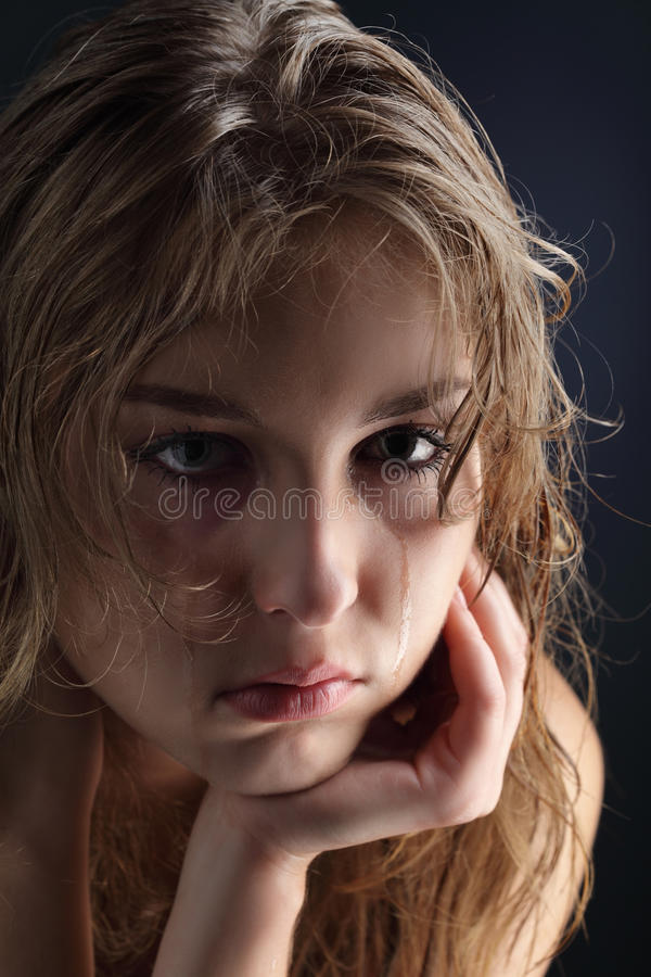 Download Girl cry stock image. Image of emotion, person, grieve - 25784397