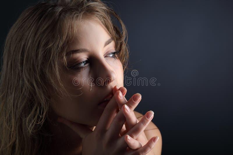 Girl cry royalty free stock photos