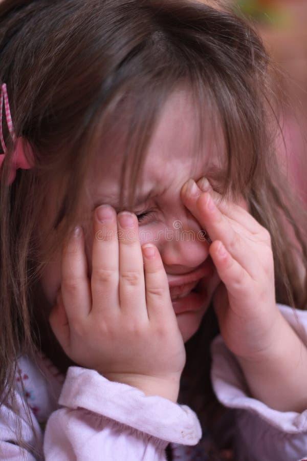 Girl is crying stock photo