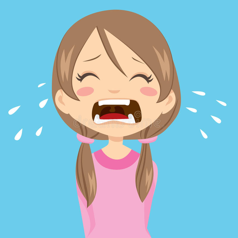 Girl Crying vector illustration