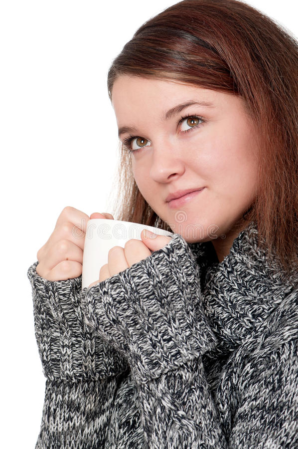 Download Girl with cup stock image. Image of hair, cute, background - 22190635