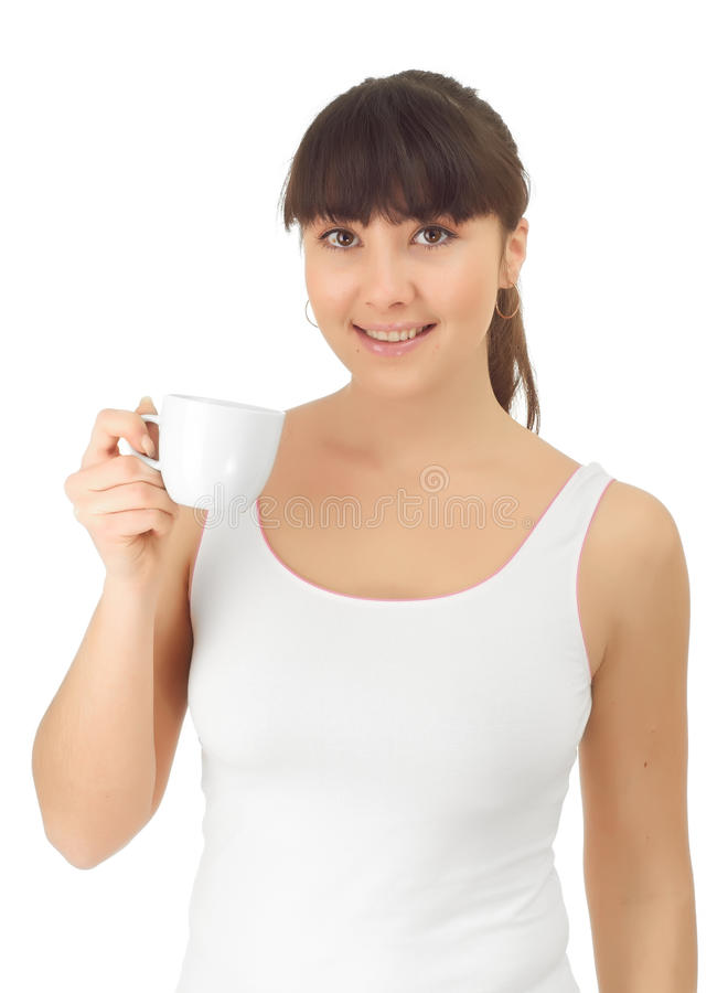 Download Girl with a cup of coffee stock photo. Image of healthcare - 21939066